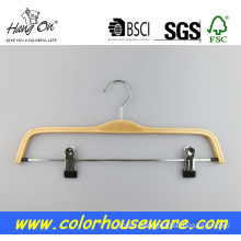 Laminated clothed wooden hanger With Clips