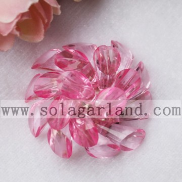 43MM Acrylic Crystal Horseshoe Beading Decorative Flowers