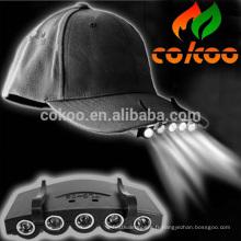 baseball led plafond avec lumière / 5 led cap lumière / led cap