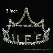 wholesale crystal hair accessories silver plated custom crown headband