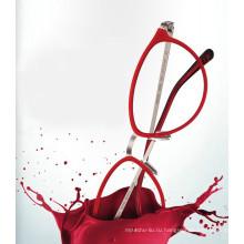 2017 Леди Сверхлегкий tr90 металлические оптические очки & очки очки