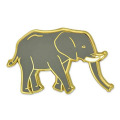 Wilder afrikanischer Elefant-Emaille-Revers-Stift