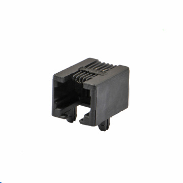 RJ11 JACK 6P4C SIDE Entry Volledig plastic