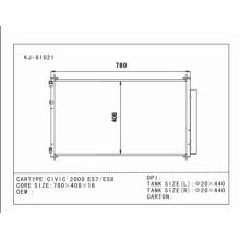 Condensador automático de la mejor calidad para Civic'2000 Es7 / Es8 OEM: 80110-Shj-A01