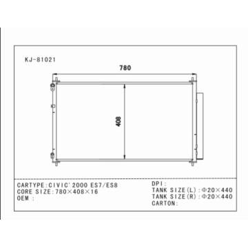Автоконденсатор Лучшее качество для Civic'2000 Es7 / Es8 OEM: 80110-Shj-A01