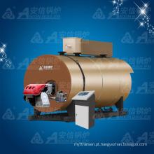 Caldeira de água quente com pressão atmosférica horizontal