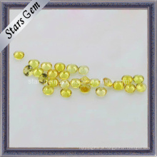 Bela Rodada Yellow Synthetic Sapphire Gemstone