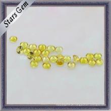 Bela Rodada Yellow Synthetic Sapphire Gemstone