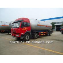 FAW 8x4 lpg truck,34.5m3 lpg transport truck for sale