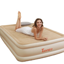 SUNGOOLE Mattress with Built-in Pump,Queen Inflatable Mattress Blow Up Air Bed Double Raised Mattress for Camping,Hiking