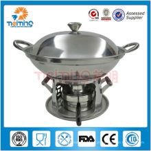 novo design de aço inoxidável antiaderente fondue fogão conjunto