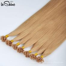 Extensions de cheveux U Tip Humide cuticule Remy Alignée 100% en gros blonde avec longue durée