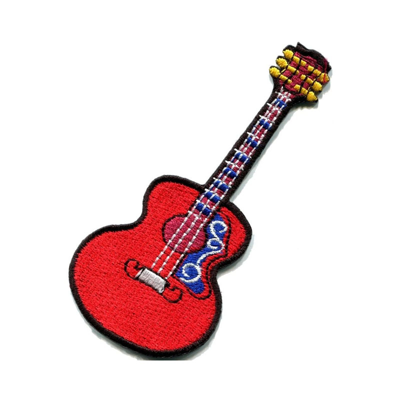 Guitar Embroidery Patch