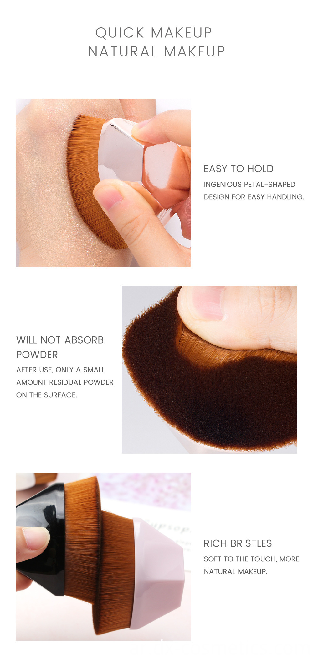 Flat Foundation Makeup Brush 3