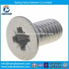 China Supplier Acero inoxidable DIN7500-M M-cross empotrable avellanado tornillos cabeza