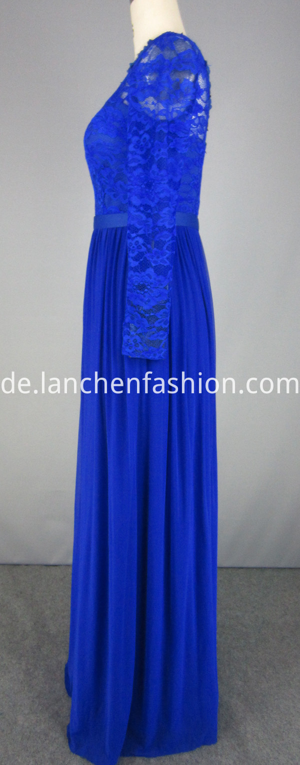 chiffon dress royal blue