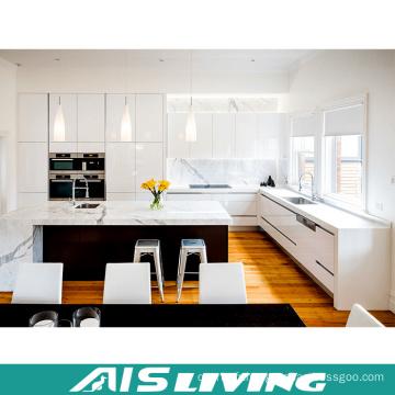 Meubles d'armoires de cuisine en L avec îlot de cuisine (AIS-K249)