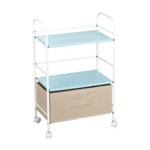 Mesh rollenden Wagen Storage Rack Regal