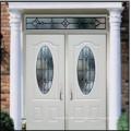 3PNL Oval with Glass Double Steel Door