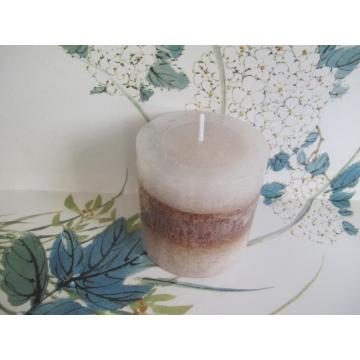 Lange Brennzeit Unscented Layered Pillar Candle