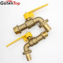 Gutentop 1/2 robinet de jardin en laiton de couleur en laiton de bibcock d'eau avec le connecteur de tuyau