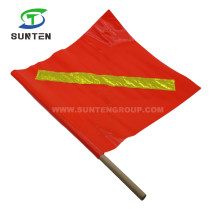 Plastic Traffic Road/Street Safety Warning Anti-UV/Waterproof PVC/Polyester/Nylon Printing Reflective/Fluorescent Color Square/Triangle String Delineator