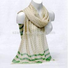 Fashion women dot printed cotton scarf