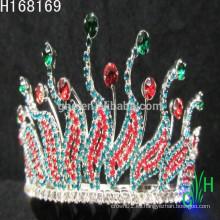 Barato plata hermosa belleza cristal congelado gran concurso coronas
