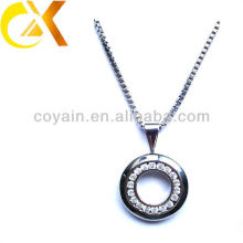 2015 stainless steel jewelry necklace crytal floating charms pendant as a gift for women