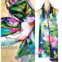 2016 latest fashion digital printing silk scarf