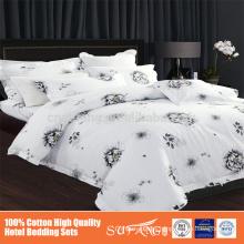 big flower designs printed bed sheet sets,100% egyption cotton 300tc bedding sets,