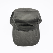 Olive green solid blank army military cap flat top cotton cadet castro patrol cap hat