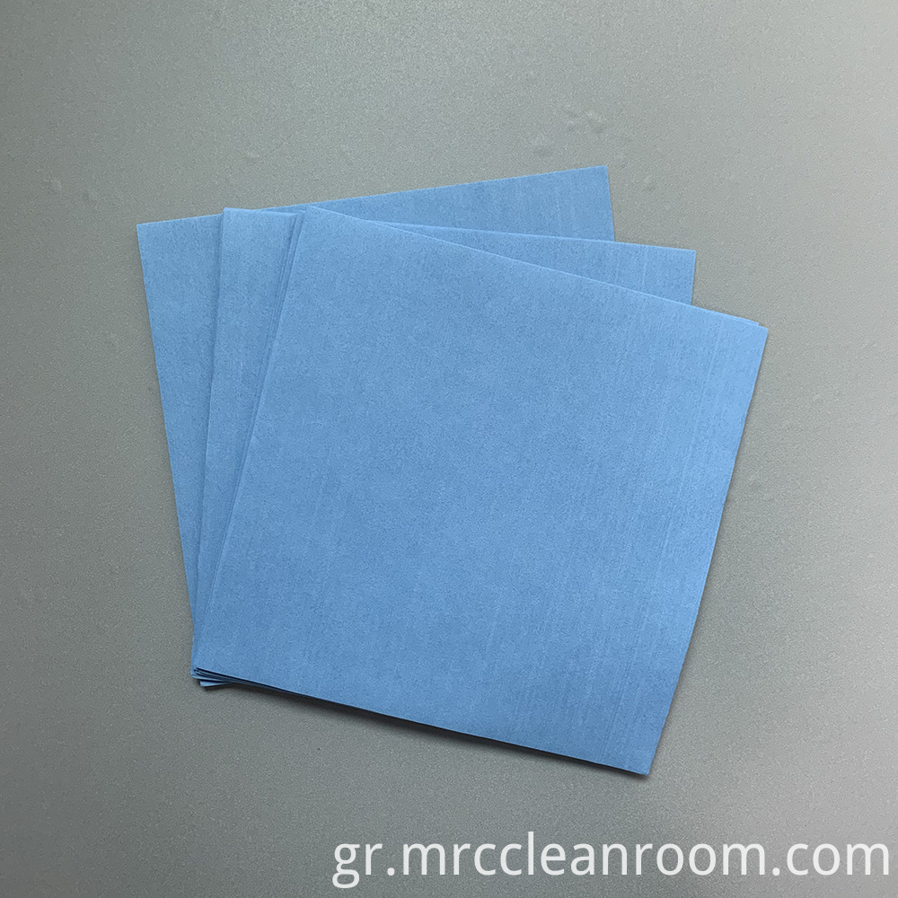 Blue Non Woven Cellulose Polyester Wipes
