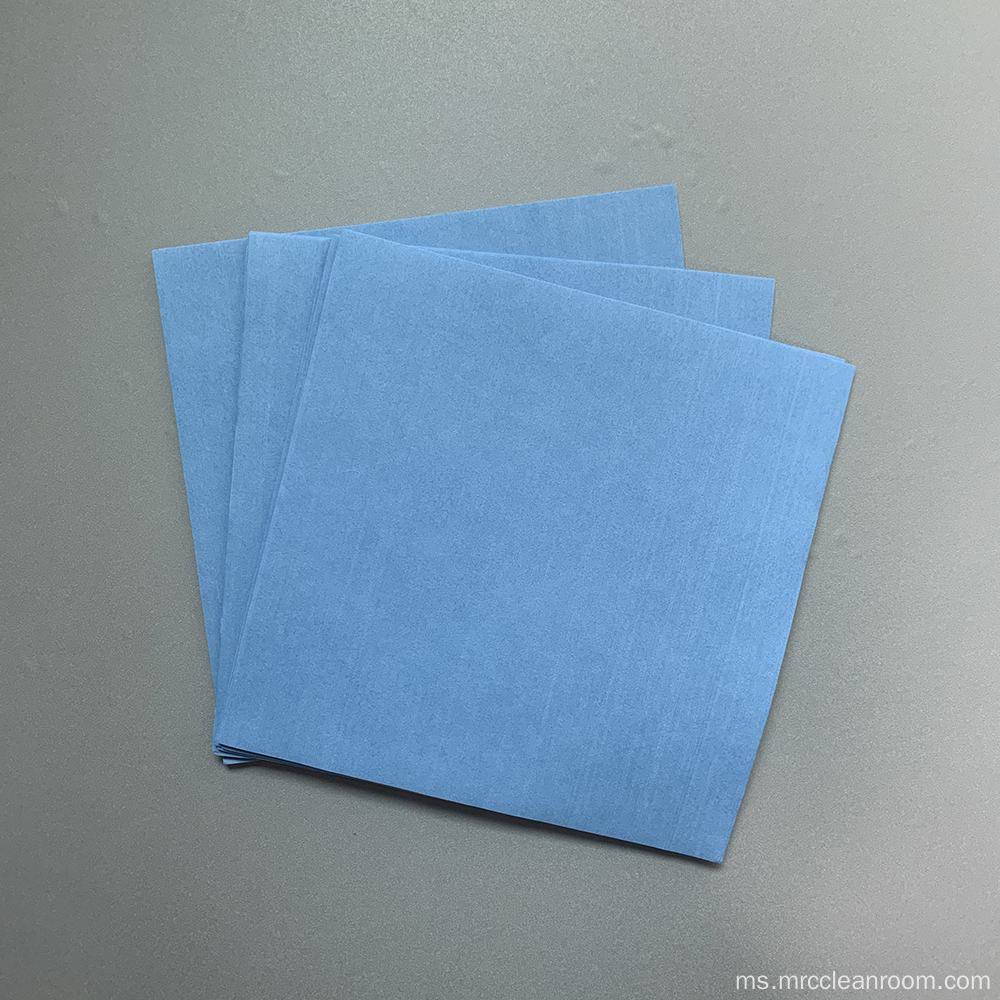 68gsm Blue Non-woven Selulose Polyester Wipes