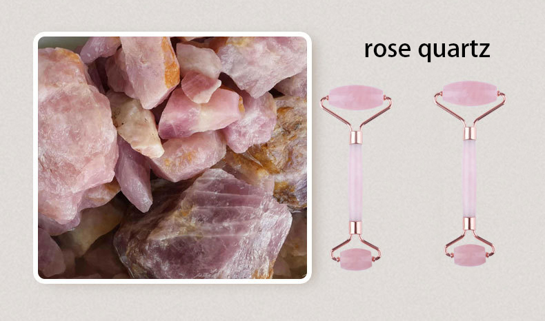 rose quartz face roller wholesale