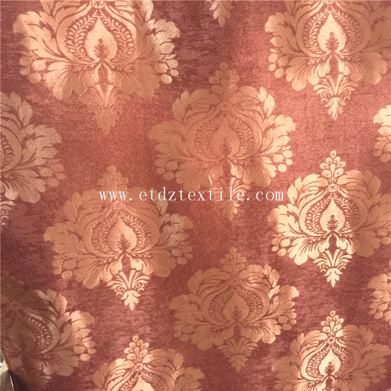 BRIGHT JACQUARD BLACKOUT CURTAIN FABRIC