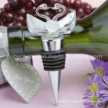 Wedding Favors Crystal Swan Stopper for Wedding Layout