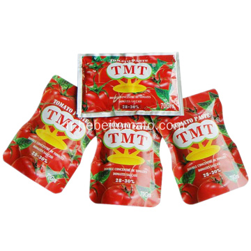 top quality tomato paste in sachet