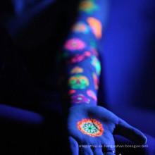 Tatuajes fotosensibles Glow in the Dark arte corporal falso humano etiqueta engomada temporal del tatuaje