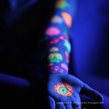 Tatouages photosensibles Glow in the Dark humain faux art corps tatouage temporaire autocollant