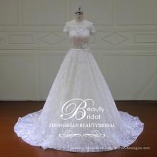 XF16056 fotos de vestido de novia de hombro con bonitos vestidos de novia nupcial applique 2017