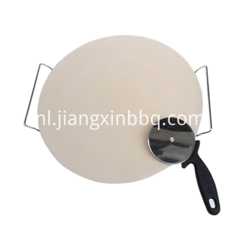 16 Inch Natural White Pizza Stone Set Overall View
