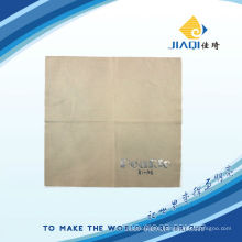 eyeglasses cleaning cloth with silver LOGO printing