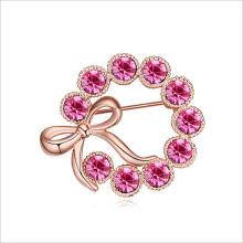 VAGULA розовый полное любви позолоченный брошь