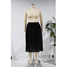 Último diseño de falda larga Faldas de enagua de una línea de poliéster