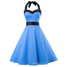 Grace Karin Women Clothing 2017 Summer Dress Retro Swing Gown Pin up Plaid Robe Vintage 50s 60s Rockabilly Dress CL010496-5