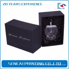 Custom black luxury paper small cardboard empty perfume box