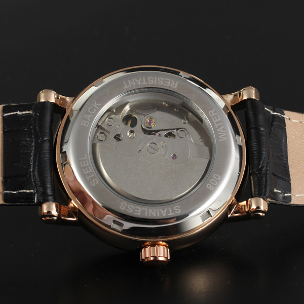 Stainless steel caseback automatic watches for male