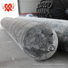 D = 0.5m-2.0m L = airbag de borracha do navio marinho de 5m-18m
