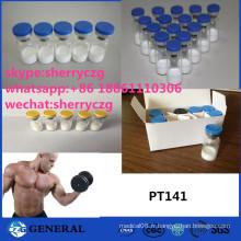 Peptides PT141 de stéroïdes sexuels de dysfonctionnement de Bremelanotide d'hormone